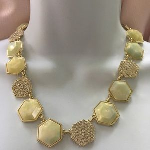 ANN TAYLOR Cream and Crystal Necklace